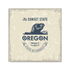 Ezposterprints - Oregon (OR) State Icon