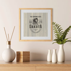 Ezposterprints - South Dakota (SD) State Icon - 12x12 ambiance display photo sample