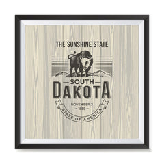 Ezposterprints - South Dakota (SD) State Icon general ambiance photo sample
