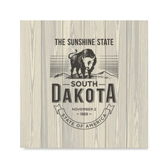 Ezposterprints - South Dakota (SD) State Icon