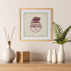 Ezposterprints - Tennessee (TN) State Icon - 12x12 ambiance display photo sample
