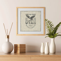 Ezposterprints - Utah (UT) State Icon - 12x12 ambiance display photo sample