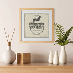 Ezposterprints - Vermont (VT) State Icon - 12x12 ambiance display photo sample