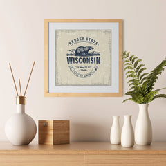 Ezposterprints - Wisconsin (WI) State Icon - 12x12 ambiance display photo sample
