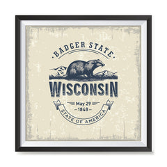Ezposterprints - Wisconsin (WI) State Icon general ambiance photo sample