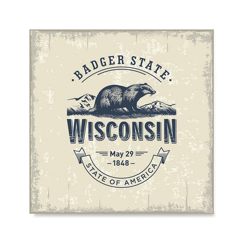 Ezposterprints - Wisconsin (WI) State Icon