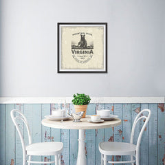 Ezposterprints - West Virginia (WV) State Icon - 16x16 ambiance display photo sample