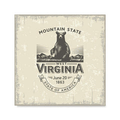 Ezposterprints - West Virginia (WV) State Icon