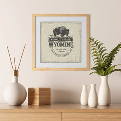 Ezposterprints - Wyoming (WY) State Icon - 12x12 ambiance display photo sample
