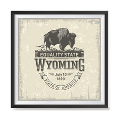 Ezposterprints - Wyoming (WY) State Icon general ambiance photo sample