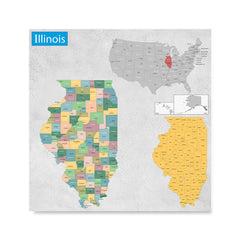 Illinois (IL) State - General Reference Map, USA States Maps Posters on indiana map, iowa map, missouri map, maine map, michigan map, illinois capital, arkansas map, florida map, kentucky map, north carolina map, texas map, illinois abbreviation, illinois clipart, united states map, ohio map, illinois license plates, il map, chicago map, illinois flag, wisconsin map,