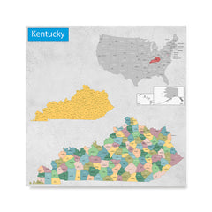 Ezposterprints - Kentucky (KY) State - General Reference Map