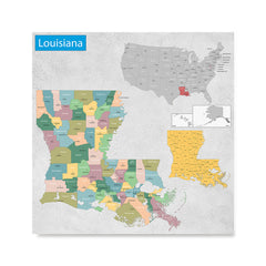 Ezposterprints - Louisiana (LA) State - General Reference Map