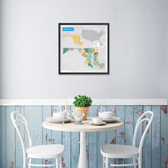 Ezposterprints - Maryland (MD) State - General Reference Map - 16x16 ambiance display photo sample