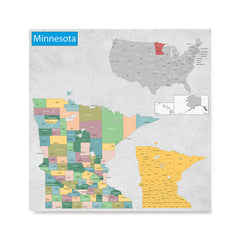 Ezposterprints - Minnesota (MN) State - General Reference Map