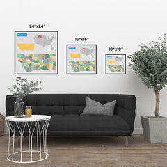Ezposterprints - Montana (MT) State - General Reference Map ambiance display photo sample