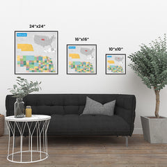 Ezposterprints - Nebraska (NE) State - General Reference Map ambiance display photo sample