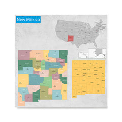 Ezposterprints - New Mexico (NM) State - General Reference Map