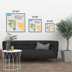 Ezposterprints - Nevada (NV) State - General Reference Map ambiance display photo sample
