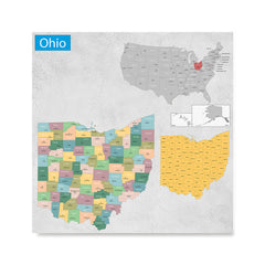 Ezposterprints - Ohio (OH) State - General Reference Map