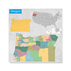 Ezposterprints - Oregon (OR) State - General Reference Map