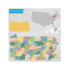 Ezposterprints - Pennsylvania (PA) State - General Reference Map