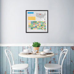 Ezposterprints - South Carolina (SC) State - General Reference Map - 16x16 ambiance display photo sample