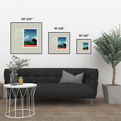 Ezposterprints - ALASKA - Retro USA State Stamp Posters Collection ambiance display photo sample