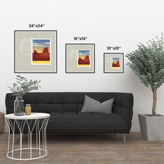 Ezposterprints - ARIZONA - Retro USA State Stamp Posters Collection ambiance display photo sample