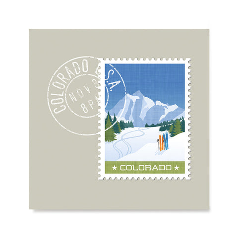Ezposterprints - COLORADO - Retro USA State Stamp Posters Collection