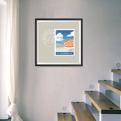Ezposterprints - FLORIDA - Retro USA State Stamp Posters Collection - 16x16 ambiance display photo sample