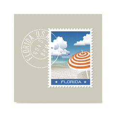 Ezposterprints - FLORIDA - Retro USA State Stamp Posters Collection