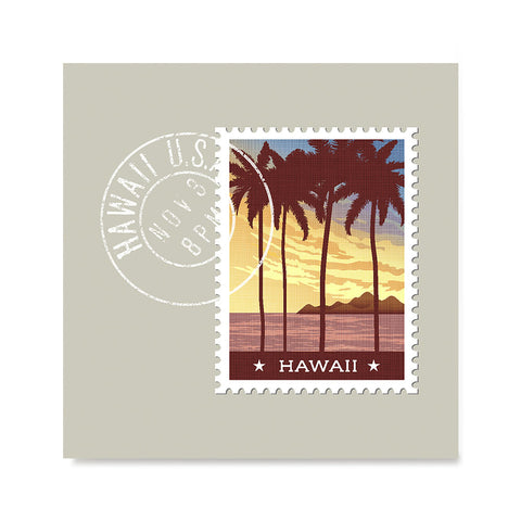 Ezposterprints - HAWAII - Retro USA State Stamp Posters Collection