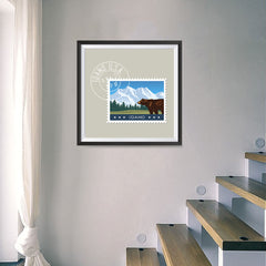 Ezposterprints - IDAHO - Retro USA State Stamp Posters Collection - 16x16 ambiance display photo sample