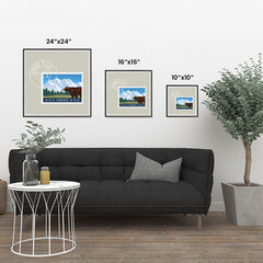 Ezposterprints - IDAHO - Retro USA State Stamp Posters Collection ambiance display photo sample
