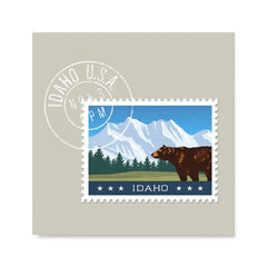 Ezposterprints - IDAHO - Retro USA State Stamp Posters Collection