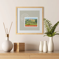 Ezposterprints - KENTUCKY - Retro USA State Stamp Posters Collection - 12x12 ambiance display photo sample