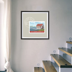 Ezposterprints - MARYLAND - Retro USA State Stamp Posters Collection - 16x16 ambiance display photo sample