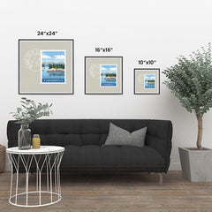 Ezposterprints - MINNESOTA - Retro USA State Stamp Posters Collection ambiance display photo sample