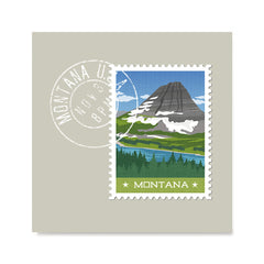 Ezposterprints - MONTANA - Retro USA State Stamp Posters Collection