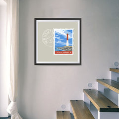 Ezposterprints - NEW JERSEY - Retro USA State Stamp Posters Collection - 16x16 ambiance display photo sample