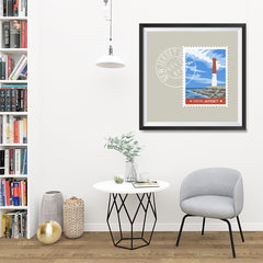 Ezposterprints - NEW JERSEY - Retro USA State Stamp Posters Collection - 32x32 ambiance display photo sample