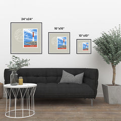 Ezposterprints - NEW JERSEY - Retro USA State Stamp Posters Collection ambiance display photo sample