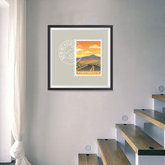 Ezposterprints - NEW MEXICO - Retro USA State Stamp Posters Collection - 16x16 ambiance display photo sample