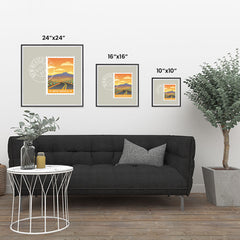 Ezposterprints - NEW MEXICO - Retro USA State Stamp Posters Collection ambiance display photo sample