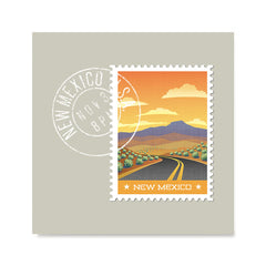 Ezposterprints - NEW MEXICO - Retro USA State Stamp Posters Collection
