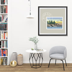 Ezposterprints - NEVADA - Retro USA State Stamp Posters Collection - 32x32 ambiance display photo sample