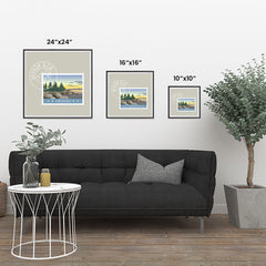 Ezposterprints - NEVADA - Retro USA State Stamp Posters Collection ambiance display photo sample