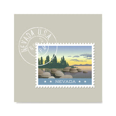 Ezposterprints - NEVADA - Retro USA State Stamp Posters Collection