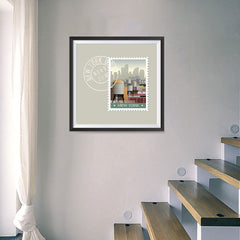 Ezposterprints - NEW YORK - Retro USA State Stamp Posters Collection - 16x16 ambiance display photo sample